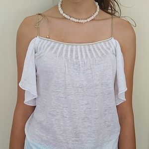 Juicy Couture White Ruffle Super Sexy Top